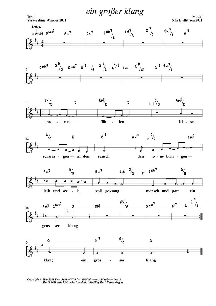 Jahreslied der Kirchenmusik