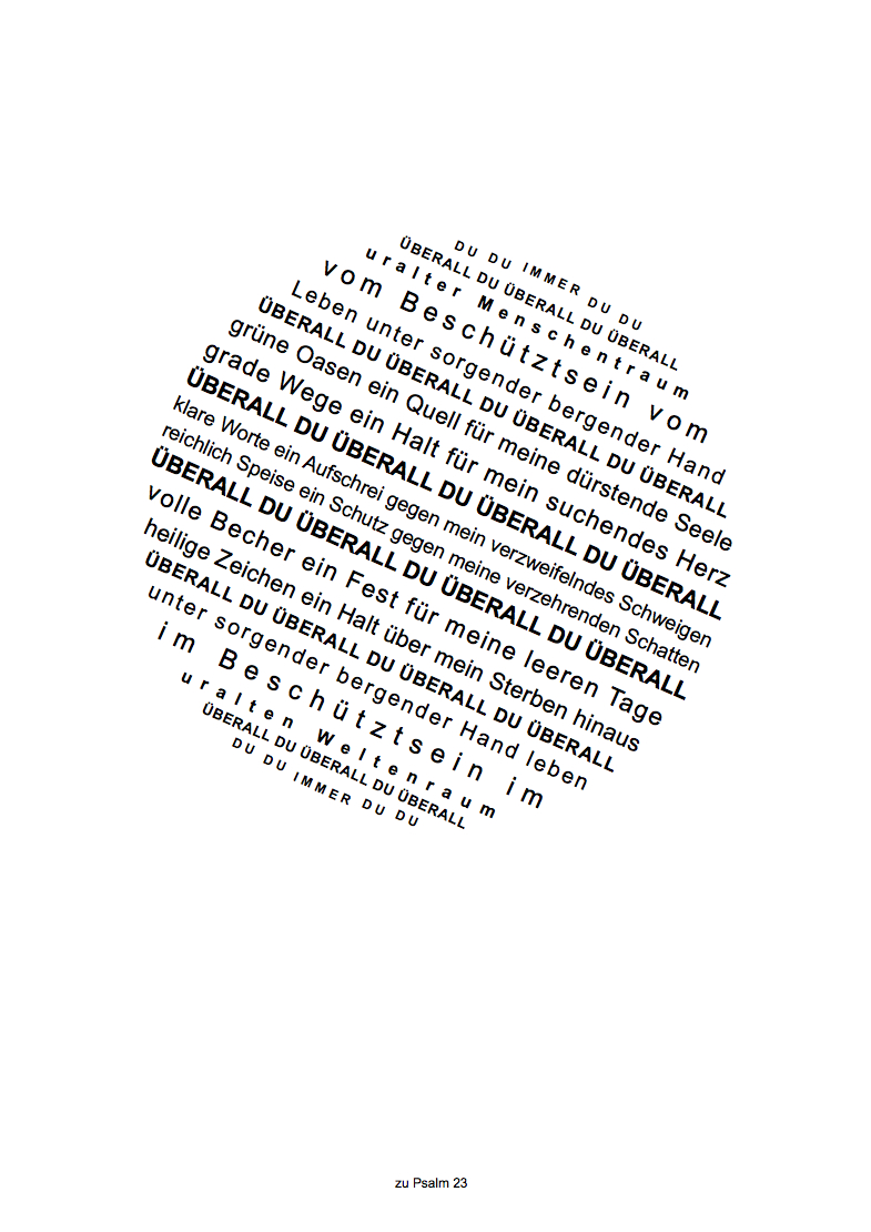 Psalm 23 - überall du - Web