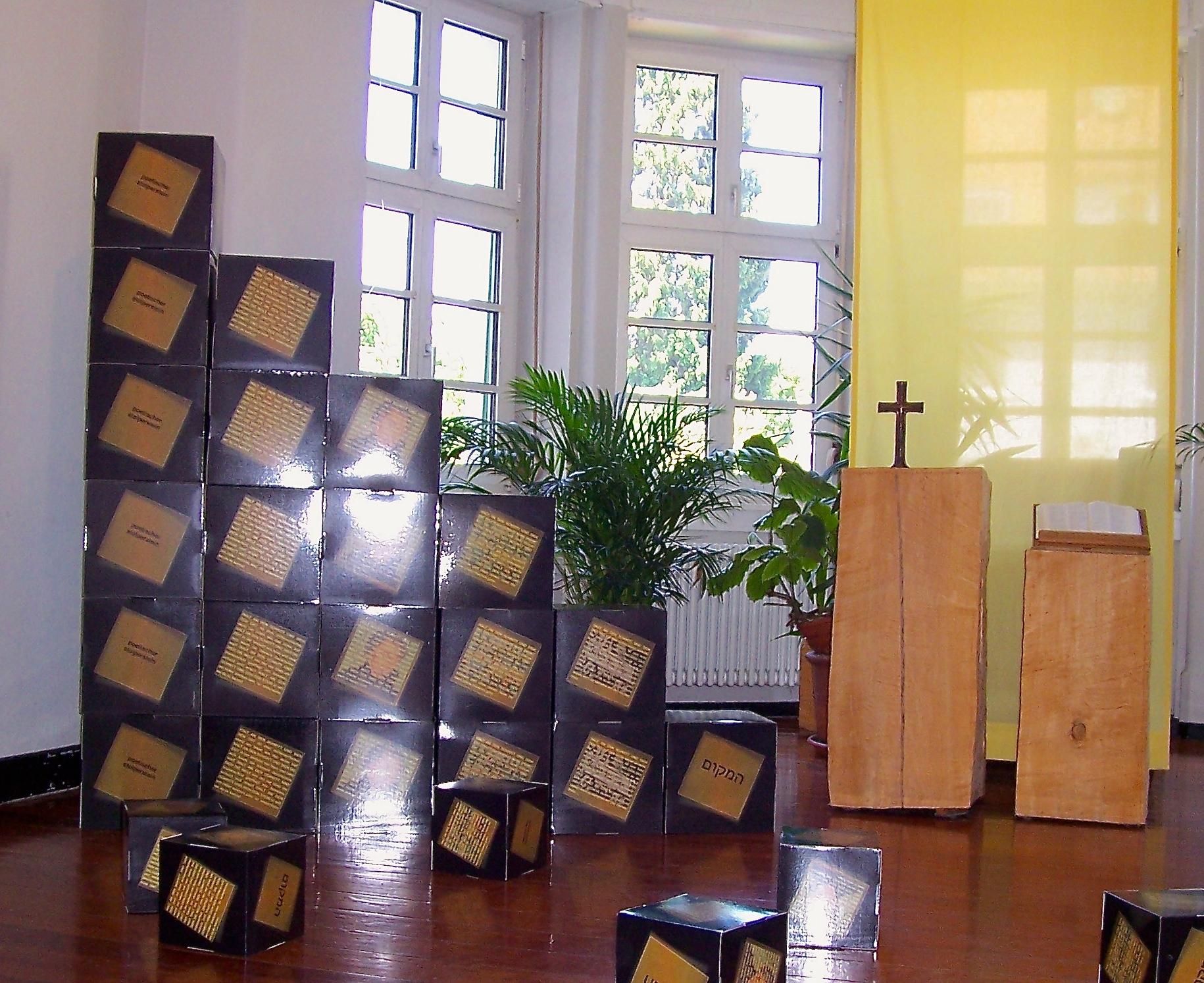 Stolperstein - Bild Installation
